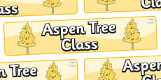 Aspen Themed Classroom Display Banner