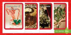 Italian foto display di Natale