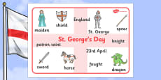 St George's Day Word Mat