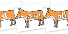 100 High Frequency Words on Foxes