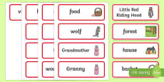 Little Red Riding Hood Word Cards
