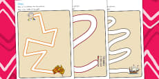 Australia - Aboriginal and Torres Strait Islander People Pencil Control Path Worksheets