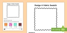 Fashion Design Studio Fabric Design Activity Sheet