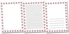 Starfish Portrait Page Borders