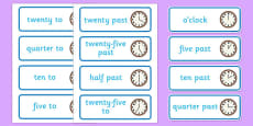 Time Word Cards