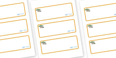 Safari Themed Editable Drawer-Peg-Name Labels (Blank)