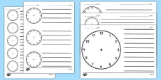 Blank Clock Templates Arabic