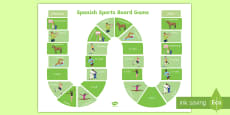Sports Board Game Spanish
