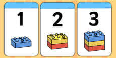 Build a Tower 1-10 Building Block Number Cards