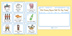 Nursery Rhyme Choosing Cards - Australia