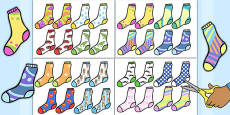 Hunt the Pair and Find a Partner Sock Matching Activity