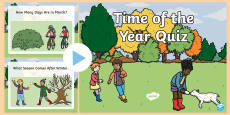 * NEW * Time of Year Quiz PowerPoint