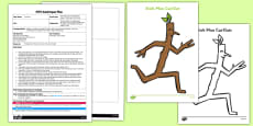 Pass the Stick Circle Game EYFS Adult Input Plan and Resource Pack to Support Teaching on Stick Man