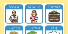 Restaurant Role Play Badges French