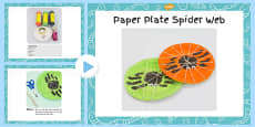 Paper Plate Spider Web With Handprint Spider Craft Instructions PowerPoint