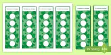 Seachtain na Gaeilge Junior Sticker Reward Bookmarks