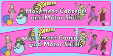 Movement Concepts and Motor Skills Display Banner NZ