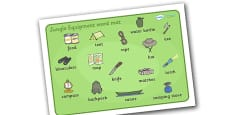 Jungle Equipment Word Mat