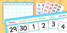 A2 Editable Calendar Display Pack