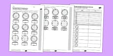 KS2 Reasoning Test Read Write and Convert Time Between Analogue and Digital 12 hour Clocks
