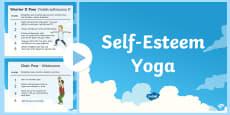 Self Esteem Yoga Poses PowerPoint