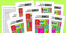 Non-Fiction Language Terms Bingo