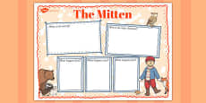 The Mitten Book Review Writing Frame