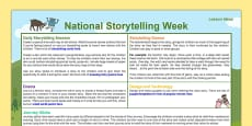 National Storytelling Week Ideas