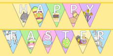 Happy Easter Display Bunting