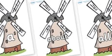 100 High Frequency Words on Windmills