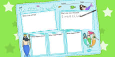 The Little Mermaid Story Review Writing Frame