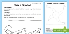 * NEW * Make a Pinwheel Activity Sheet