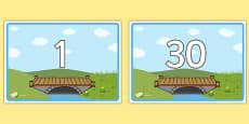 Bridge Themed Display Posters Numbers 1-30