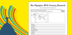 Rio 2016 Olympics Country Factfile