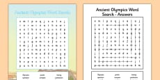 Ancient Olympics Word Search