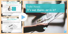 * NEW * Fake News PowerPoint
