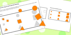 Workstation Pack Shape Size Matching Activities
