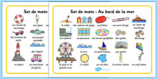 Seaside Word Mat French