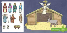 Christmas Nativity Cut and Stick Activity