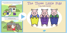 The Three Little Pigs Story PowerPoint Polish Translation