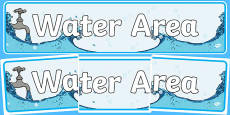 Water Area Sign