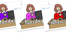 Days of the Week on Receptionists