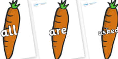Tricky Words on Carrots