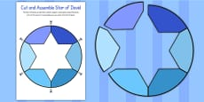 Cut and Assemble Star of David Activity