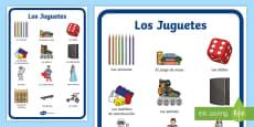 Toys Display Poster - Spanish