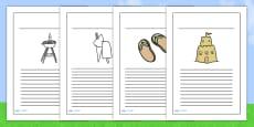 Summer Writing Frames