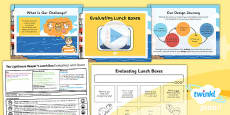 PlanIt - D&T KS1 - The Lighthouse Keeper's Lunch Box Lesson 2: Evaluating Lunchboxes Lesson Pack