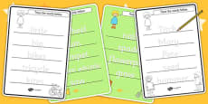 Trace the Words Activity Sheets to Support Teaching on Titch