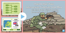 World War Two Interactive Timeline and Map PowerPoint English/Romanian