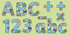 Writing Themed Display Letters and Numbers Pack